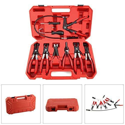AllRight 9 Pcs Hose Clamp Pliers Clip Removal Set Automotive Tool In Case by AllRight