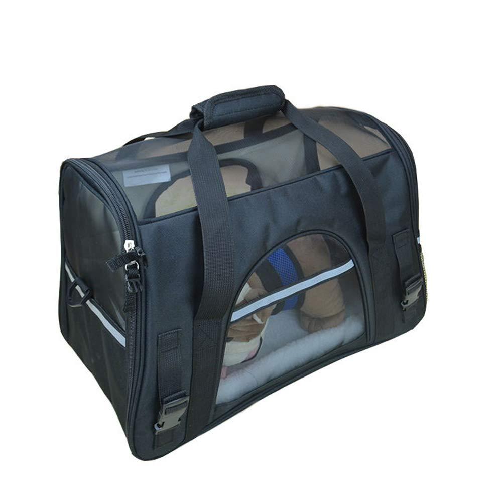 Black MYugoujiu Pet Travel Bag Dog Bag Cat Bag Teddy Carrying Bag Pet Bag Back Dog Bag Cat Out Bag Dog Bag,color,M