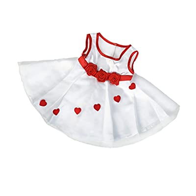 """Adorable Hearts Dress Outfit Fits Most 14"""" - 18"""" Build-a-Bear and Make Your Own Stuffed Animals: Toys & Games"""