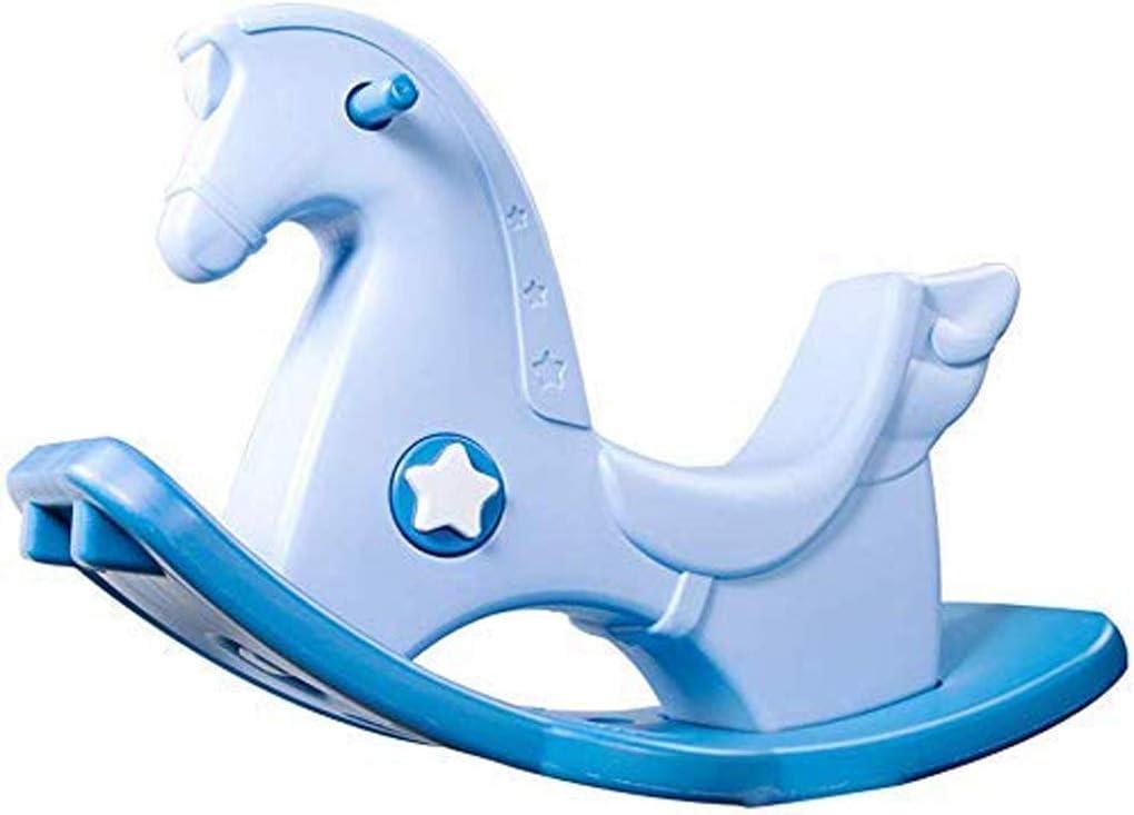 JJSFJH 子供のロッキングホースプラスチック製のおもちゃ子供のトロイの木馬チャイルドロッキングホース大型パズル1-2歳のギフト