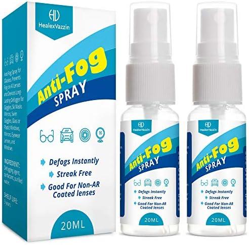 Anti-Fog Spray for Glasses Work on Eyeglass, Mask, Sports Goggles, Swim Goggles, Bathroom Mirror, Humid Environment, Nanotechnology 2 Pack