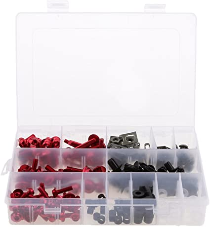 223pcs Tornillos de Carenado kit con Caja de Almacenamiento para ...