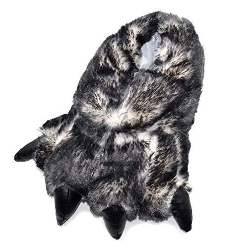 Millffy Funny Slippers Grizzly Bear Stuffed Animal Claw Paw Slippers Toddlers Costume Footwear (Large - (Men