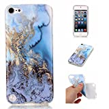 ipod 5 case light blue - iPod Touch 6 Case, iPod Touch 5 Case, Love Sound Marble Design [Drop Protection] [Shock Absorbent] Premium Flexible Soft TPU Shell Case for Apple iPod Touch 5 6th Generation (Sea Blue)