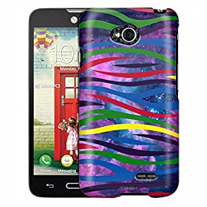 LG Realm Case, Slim Fit Snap On Cover by Trek Colorful Zebra on Nebula Case