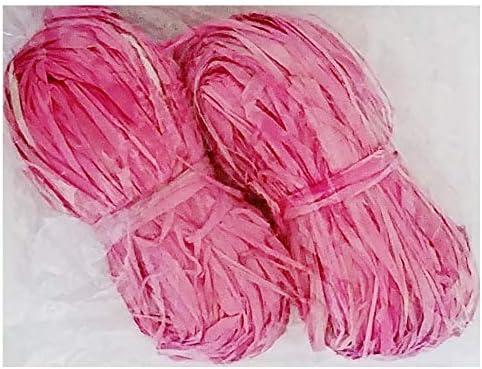 Bundle Pink Natural Raffia Ribbon DIY, Crafting, Wreath Making, Bows, Decorating, Gift Wrapping