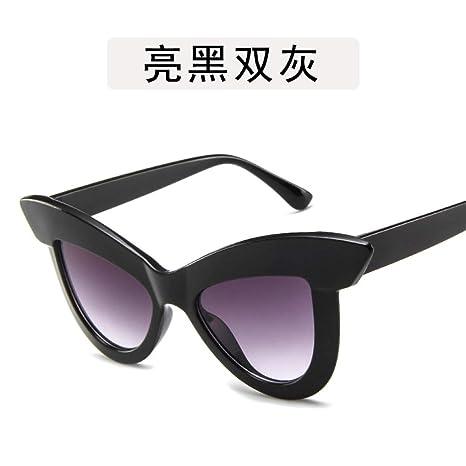 Yangjing-hl Personalidad de Metal Grandes Cejas Gafas de Sol ...