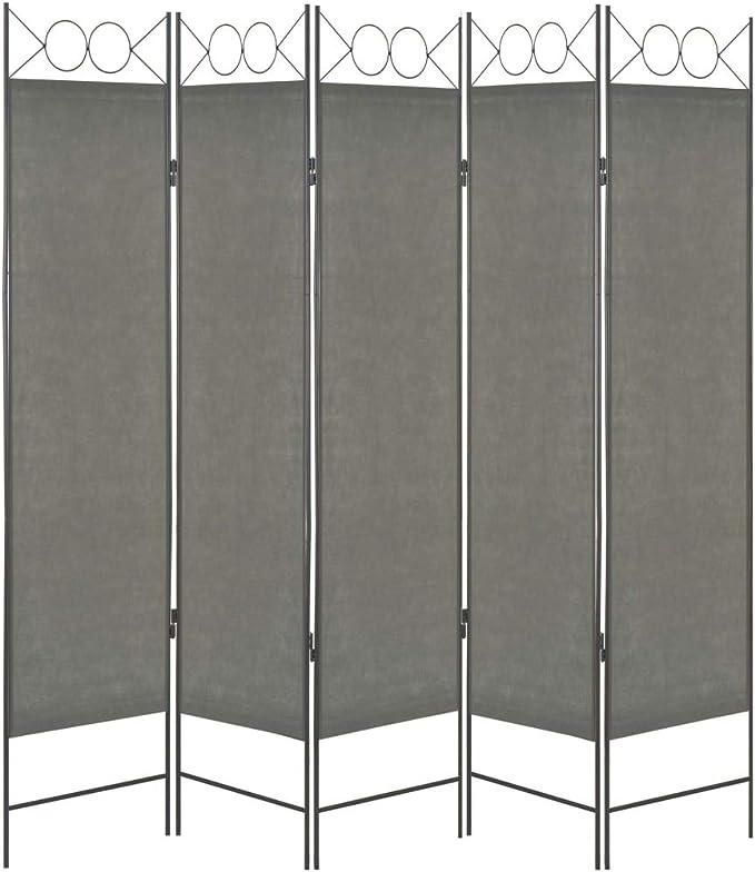 vidaXL - Separador de ambientes (5 Unidades) Biombo Plegable para Pared de Dormitorio, Color Antracita, 200 x 180 cm: Amazon.es: Juguetes y juegos