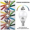 Winshine 6W E12 Warm Light Bulb, G45 2700K Candle Light for Ceiling Fan, Chandelier Bulb, Decorative Globe Non Dimmable LED Base Bulb, 6 Pack.
