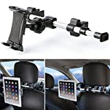 iKross Tablet Mount Holder Universal Car Backseat Headrest Extendable Mount Holder For Apple iPad Pro 10.5/9.7, iPad Air/Mini, Samsung Galaxy Tab, Nintendo Switch, and 7-10.2-inch Tablet - Black