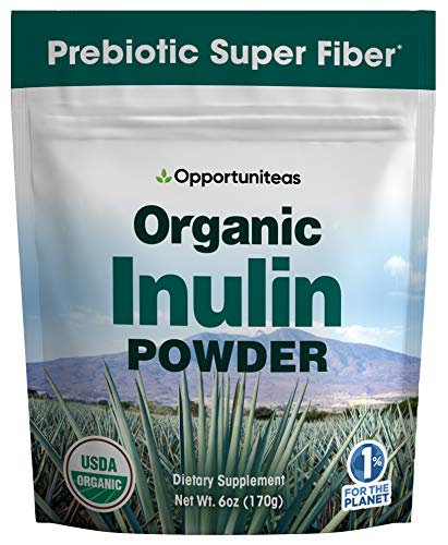 Organic Inulin Powder - Prebiotic Super Fiber Made from 100% Organic Blue Weber Agave - Alternative Sweetener That Supports Digestion, Regularity, and Gut - Non GMO, Vegan, Gluten Free - 6 oz