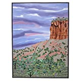 RED ROCK MORNING - original mixed media fiber art by Patricia Gould