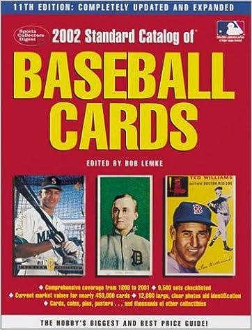 Standard Catalog Of Baseball Cards Standard Catalog Of Vintage