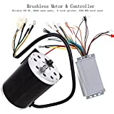 ZXTDR 48V 1800W Brushless Electric Motor and Controller Set For Go Kart Scooter E Bike Motorized Bicycle ATV Moped Mini Bikes
