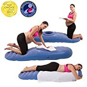 Cozy Bump Maternity Pillow - Lie on Your Stomach During Pregnancy (Blue)