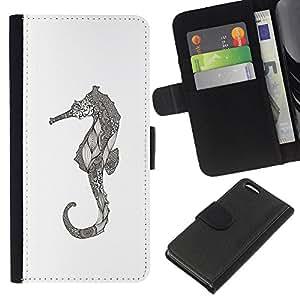 KingStore / Leather Etui en cuir / Apple Iphone 5C / Art dessin au crayon graphique