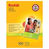 "Kodak Photo Paper for inkjet printers, Matte Finish, 7 mil thickness, 100 sheets, 8.5"" x 11"" (8318164)"