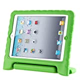 Afranker Ipad 2/3/4 Shockproof Case Light Weight Kids Case Super Protection Cover Handle Stand Case for Kids Children for Ipad 2/3/4 Green