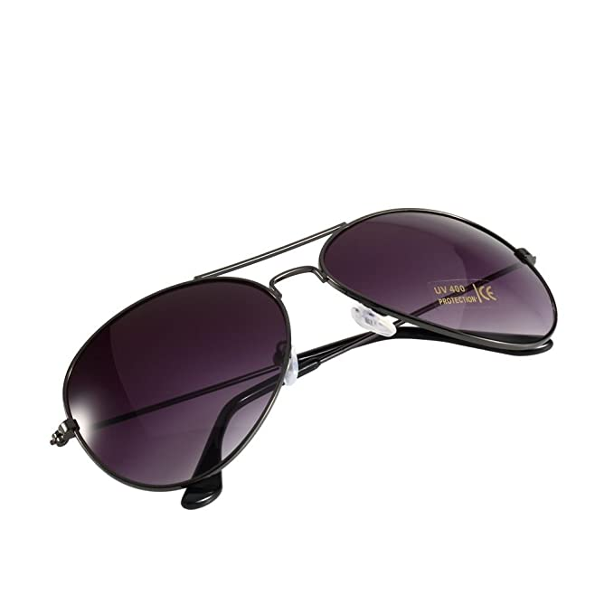 Gewehr Rahmen + grau Objektiv Unisex Vintage Retro Damen Herren Brille Spiegel Objektiv Sonnenbrille Fashion SG RZItXlD9hg