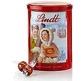 Lindt Milk Chocolate Lindor Truffles Nostalgic Gift Tin, 8.5 oz