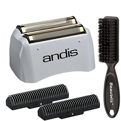 Andis Pro Shaver No.17155 Replacement Titanium Foil Assembly and Inner Cutters, With a Bonus BeauWis Blade Brush
