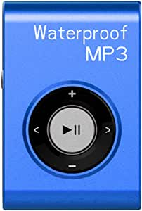 GZCRDZ IPX8 Waterproof Swimming MP3 Player Built-in 8GB MP3 Music with FM Radio Hi-Fi Headphone for Diving Surf Underwater Sports Running (Blue)