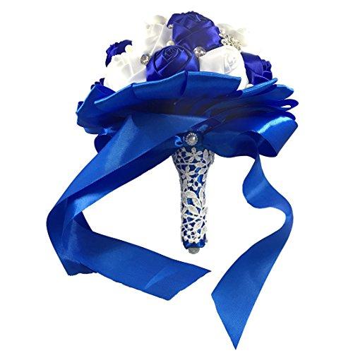 blue bridal bouquet - 9