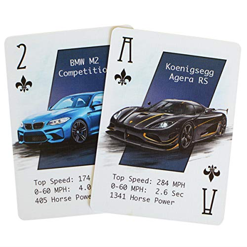 ARTISTICPX Performance Car Playing Cards VII - Casino Grade Paper - Unique Deck of Cards - Cool Custom Cards for The Car Enthusiast