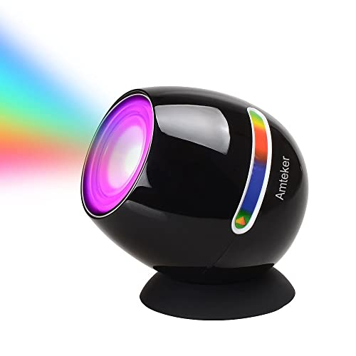 Amteker Living 256 Colors LED Light, Touch Pad Control Colorful Mood Rechargeable Micro Colour Changing Mood Light(Black)