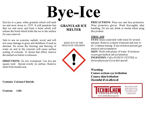 Technichem Corporation BYE ICE Granular Ice Melter (2-50lb Pails=100lbs)