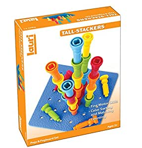 Lauri Tall-Stacker Pegs & Pegboard Set