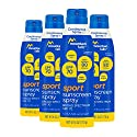 Mountain Falls Sport Sunscreen Continuous Spray, SPF 70 Broad Spectrum UVA/UVB Protection, Compare to Coppertone, 6 Ounce (Pack of 4)