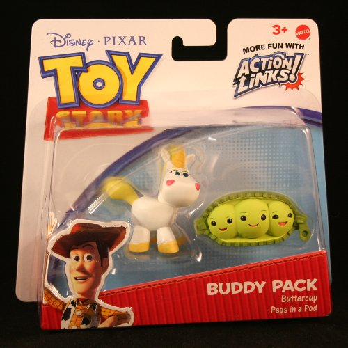 Disney / Pixar Toy Story 3 Exclusive Action Links Mini Figure Buddy 2Pack Buttercup Peas in a Pod (Toy Story Buttercup)