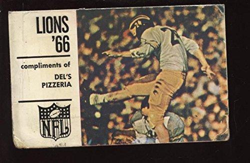 1966 NFL Detroit Lions Football Pocket Schedule (1966 Detroit Lions)