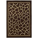 Shaw Concepts 5-Foot 3-Inch by 7-Foot 10-Inch Rug in Giraffe, Brown
