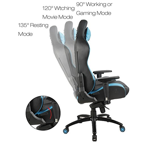 51C8ZJneaBL - BLUE-SWORD-Breathable-Leather-Computer-Gaming-Chair-Ergonomic-Office-Chair-Large-Size-Racing-Style-High-back-Adjustable-With-Lumbar-Support-and-Headrest