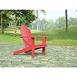 Cheap Linon Adirondack Chair, Red