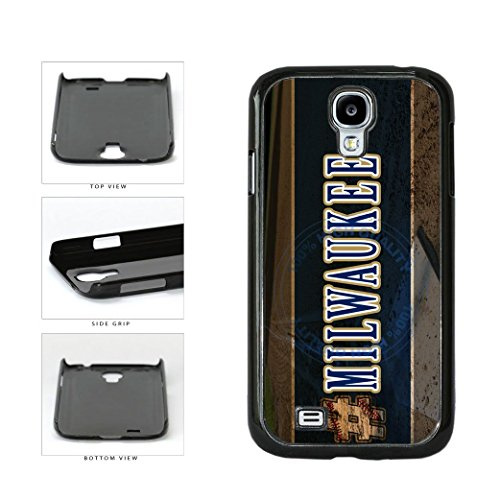 BleuReign(TM) Hashtag Milwaukee #Milwaukee Baseball Team Plastic Phone Case Back Cover For Samsung Galaxy S4 (Brewers Samsung Galaxy S4 Case)