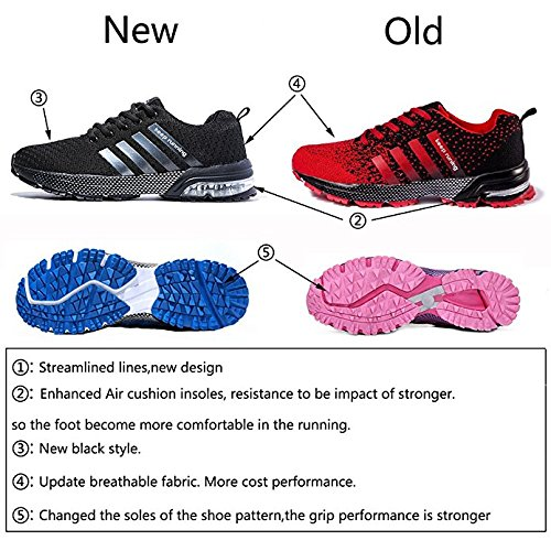 Walking Training 1 Cheap Black Cushion Women Running Shoes Shoe for and Athletic Air Sneaker AHICO Sports Casual Men OZTPawTq