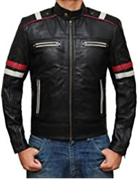 Mens Leather Jackets and Coat - Genuine Vintage Bomber Motorcycle Cafe Racer Black and Brown Jackets