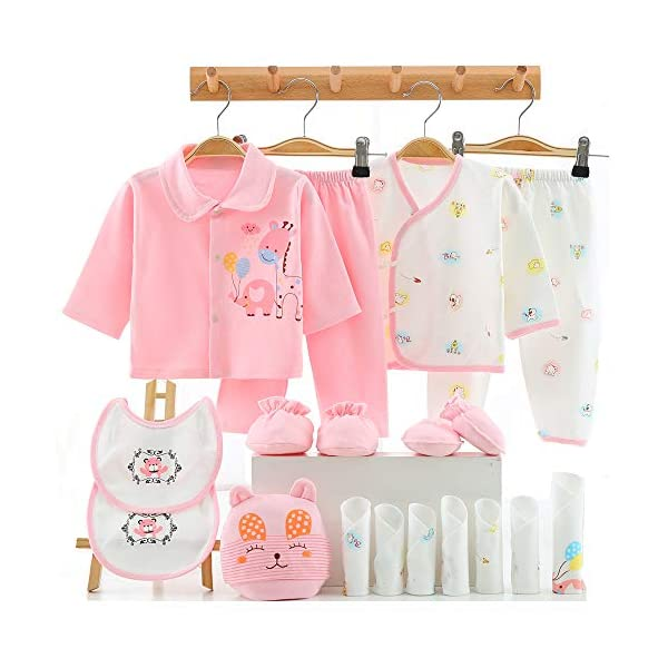 Kerrian Online Fashions 51C8aXlsEtL 18PCS Newborn Girl Boy Clothes 0 3 Months Baby Outfits Pants Gifts Layette Set
