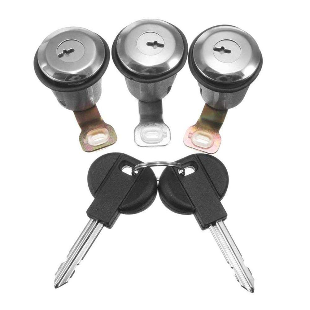 IrahdBowen Autotü r Barrel Lock Key Zylinder und 2 Schlü ssel Professional Ersatz Auto Zubehö r fü r Peugeot Teil 3 Stü ck