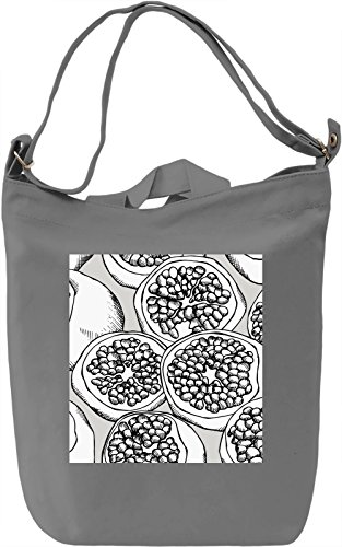 Fruit Print Black and White Borsa Giornaliera Canvas Canvas Day Bag| 100% Premium Cotton Canvas| DTG Printing|
