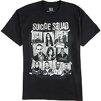 Camisa negra para hombre de DC Comics Suicide Squad Group Cork Board, X-Large