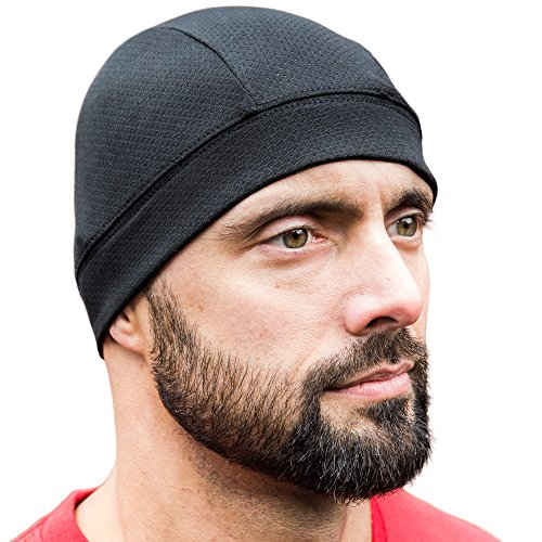 Renegade Active Adventure Skull Caps [ Black 2 Pack] , Best as a Helmet Liner, Cycling Cap, Running Sports Beanie, Perfect under Helmets and Covers Ears (Black Cycling Cap)