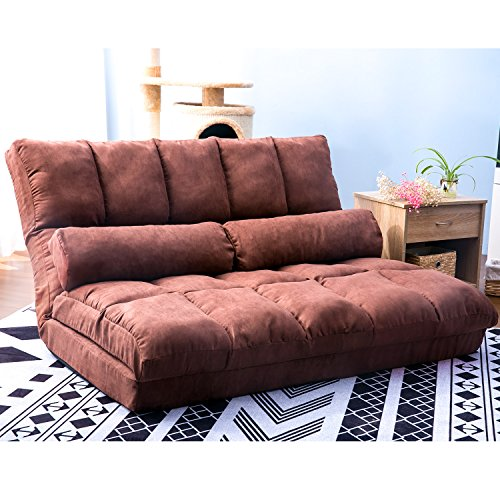 Cheap Harper&Bright designs Chaise Lounge Sofa Chair Floor Couch with Lumbar Cushion (Brown)