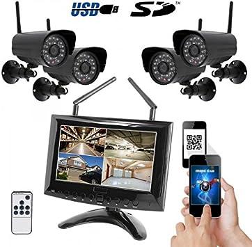 HaWoTEC HD profesional Tiempo real Vigilancia 4 Radio cámara ...