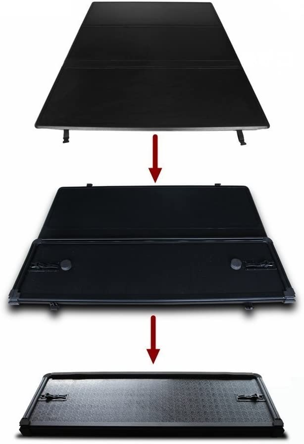 Amazon Com For 2004 2018 F150 5 5ft 66in Bed Hard Solid Tonneau Cover Not Fit Raptor Series Automotive