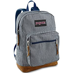 JanSport Unisex Right Pack Expressions Blue White Stripe Backpack