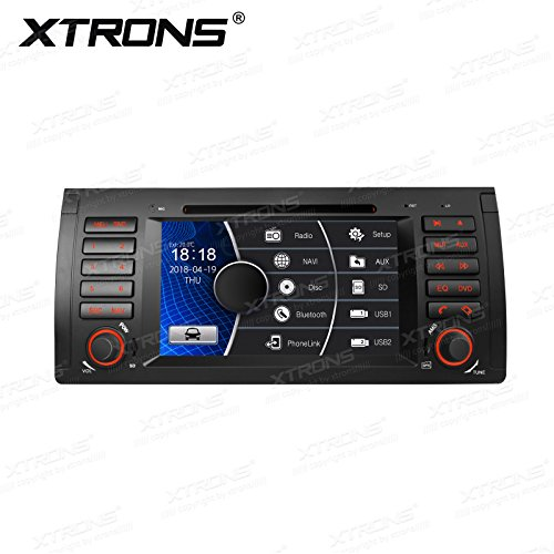 XTRONS 7 Inch HD Digital Touch Screen Car Stereo Radio in-Dash DVD Player with GPS CANbus Screen Mirroring Function for BMW E53 X5 Navigation Map Card Included ()